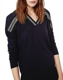 Maje Mauricete Silk-Wool Sweater at Bloomingdales