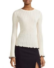 Maje Mimosa Pointelle Sweater Women - Bloomingdale s at Bloomingdales