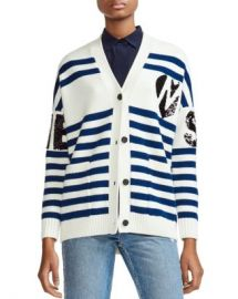 Maje Murmur Striped  amp  Sequined Cardigan Women - Bloomingdale s at Bloomingdales