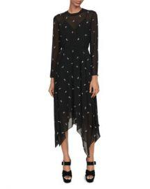 Maje Rabilo Paisley-Embellished Midi Dress Women - Bloomingdale s at Bloomingdales