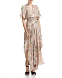 Maje Rachel Smocked Paisley-Print Maxi Dress Women - Bloomingdale s at Bloomingdales