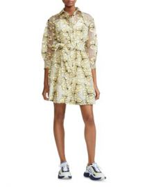 Maje Reality Floral-Embroidered Organza Shirt Dress Women - Bloomingdale s at Bloomingdales