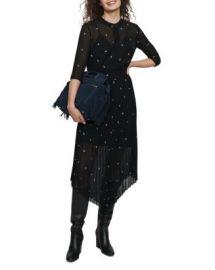 Maje Remi Paisley Embellished Midi Dress Women - Bloomingdale s at Bloomingdales
