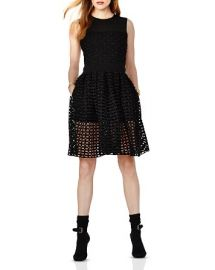 Maje Restano Cutout Fit and Flare Dress at Bloomingdales