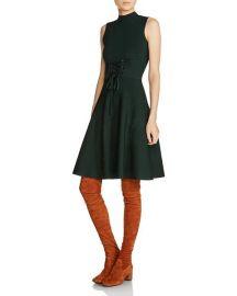 Maje Revolte A-line Corset-Detail Dress at Bloomingdales