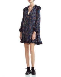 Maje Riley Ruffled Paisley-Print Mini Dress Women - Bloomingdale s at Bloomingdales