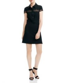 Maje Riloi Lace-Detail A-Line Mini Dress Women - Bloomingdale s at Bloomingdales