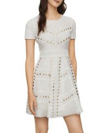 Maje Rista Studded Guipure Lace Dress Women - Bloomingdale s at Bloomingdales