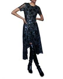 Maje Rizia Embroidered Sunburst-Pattern Midi Dress Women - Bloomingdale s at Bloomingdales