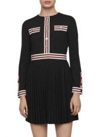 Maje Rouli Striped-Trim Dress Women - Bloomingdale s at Bloomingdales