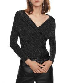 Maje Tio Metallic Knit Bodysuit Women - Bloomingdale s at Bloomingdales