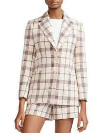 Maje Vanilla Check Blazer Women - Bloomingdale s at Bloomingdales