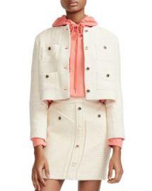 Maje Violi Cropped Tweed Jacket Women - Bloomingdale s at Bloomingdales