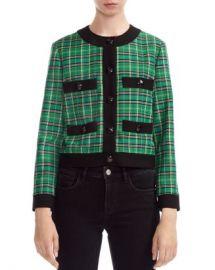 Maje Vivert Cropped Plaid Jacket Women - Bloomingdale s at Bloomingdales