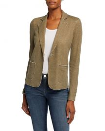 Majestic Filatures One-Button Double Face Blazer at Neiman Marcus