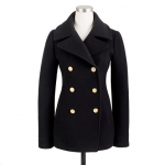 Majesty peacoat from J Crew in black at J. Crew