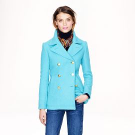 Majesty peacoat in hthr mineral at J. Crew
