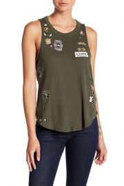 Major Love Patch Distressed Tank by Chaser at Nordstrom Rack