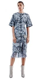 Maki Oh Marble Constellation Adire Dress at oxosi