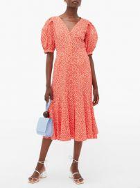Malia floral-print cotton-poplin midi dress at Matches