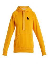 Malibu flocked-logo cotton-blend hooded sweatshirt at Matches
