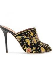 Malone Souliers Dawn embellished velvet mules at Net A Porter