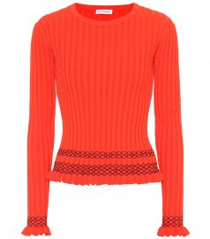 Malou embroidered ribbed-knit sweater at Mytheresa