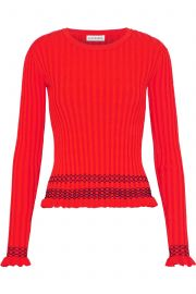 Malou embroidered ribbed-knit sweater at The Outnet