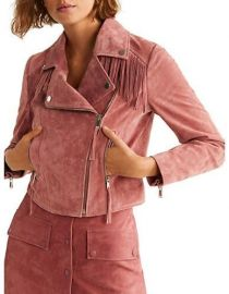 Mango Fringe Suede Jacket at Hudsons Bay