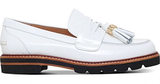 Manila leather loafers at Selffridges
