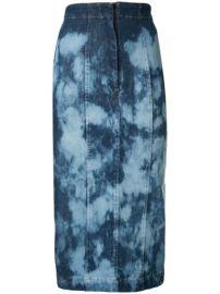 Manning Cartell tie-dye Denim Skirt - Farfetch at Farfetch