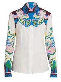 Manu-Print Stretch-Cotton Shirt by Emilio Pucci at Saks Fifth Avenue