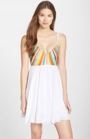 Mara Hoffman Embroidered Tie Back Dress at Nordstrom