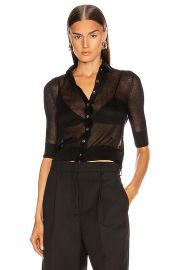Mara Hoffman Veronica Top in Black   FWRD at Forward