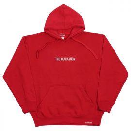 Marathon Bar Hoodie - Red at The Marathon Clothing