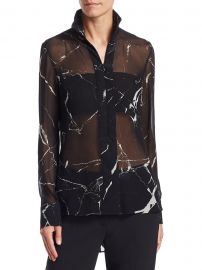 Marble Tile Print Blouse at Saks Fifth Avenue