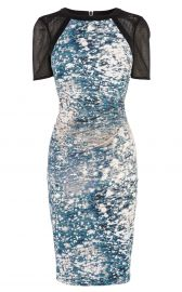 Marble Print Signature Stretch Dress at Karen Millen