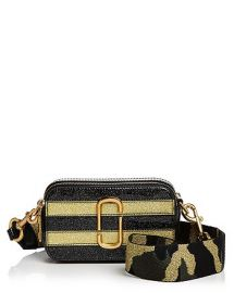 Marc Jacobs Snapshot Glitter Stripe Leather Camera Bag at Bloomingdales
