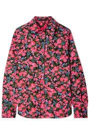 Marc Jacobs   Floral-print crepe de chine shirt at Net A Porter