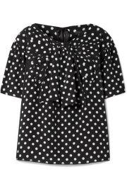 Marc Jacobs   Polka-dot silk-georgette blouse at Net A Porter