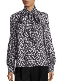 Marc Jacobs - Poodle Print Silk Blouse at Saks Fifth Avenue