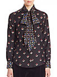 Marc Jacobs - Printed Long Sleeves Top at Saks Fifth Avenue