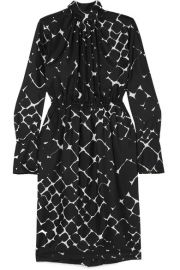 Marc Jacobs - Printed silk turtleneck midi dress at Net A Porter
