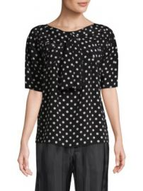 Marc Jacobs - Silk Polka Dot Bow Top at Saks Fifth Avenue