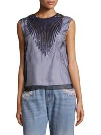 Marc Jacobs - Tulle Shell Sequin Blouse at Saks Fifth Avenue
