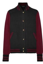 Marc Jacobs   Two-tone wool and cashmere-blend bomber jacket at Net A Porter
