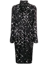 Marc Jacobs Abstract diamond-print Dress - Farfetch at Farfetch