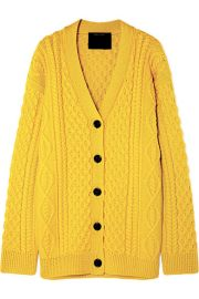 Marc Jacobs Cable-knit wool cardigan at Net a Porter