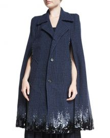 Marc Jacobs Degrade Sequined Houndstooth Long Cape   Neiman at Neiman Marcus