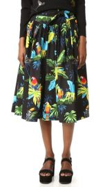 Marc Jacobs Parrot Belted Full Skirt at Shopbop